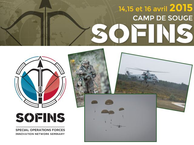SOFINS 2015 pictures Web TV Television photos video Special Operations Forces Innovation Network Seminar Exhibition military equipment Camp Souge Military Base France French army