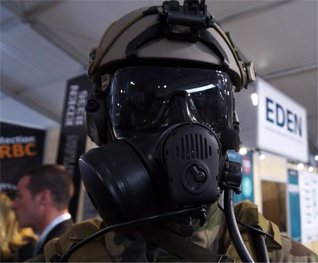 OUVRY NBC CBRN protective equipment SOFINS 2015 Special Forces Operations Innovation Network Seminar Camp Souge Bordeaux France 001