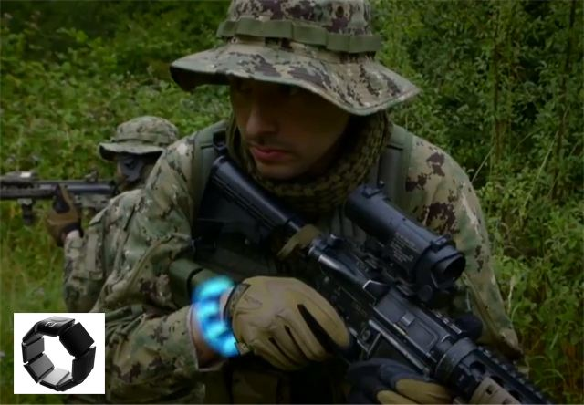 French Company Novitact Feeltact wristband silent and discreet communication system for soldiers 640 001