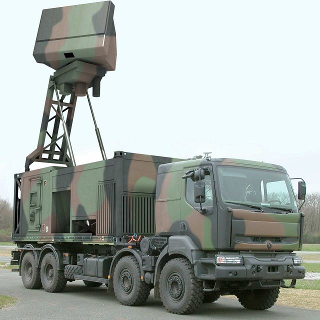 The Ground Master (GM) 200 is a tactical 3-D medium range air defence radar. This mobile radar is dedicated to the protection of key assets and deployed forces. The GM 200 offers outstanding performance in terms of warning delay and tracking accuracy of highly manoeuvrable targets flying at both low and high altitude. With the full 3-D coverage, the GM 200 is a dual-use radar that can switch instantaneously between modes; from extended range surveillance to shorter range engagement including C-RAM warning capabilities.