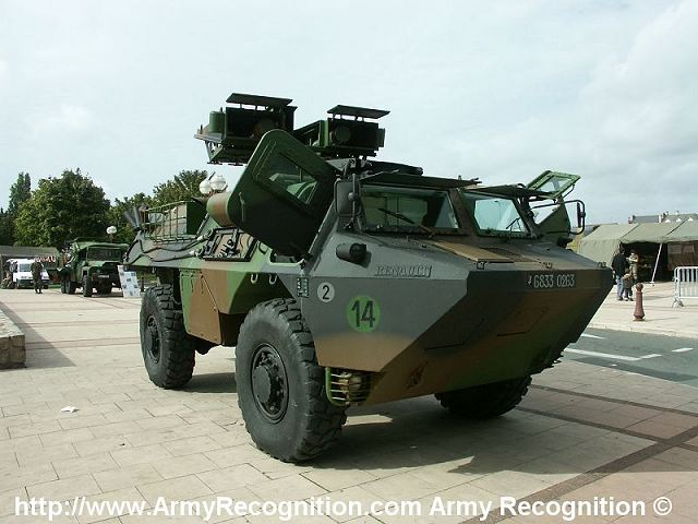VAB HOT Mephisto anti-tank missile launcher 4x4 armored vehicle technical data sheet specifications information description pictures photos images video intelligence identification France French army defence industry military technology