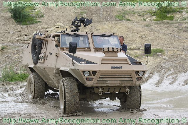 The Bastion Patsas is a wheeled armoured vehicle developed and designed by the French Defence manufacturer Acmat to answer to the new requirements of Special Forces and reconnaissance units. The Bastion Patsas was unveiled at the Defence Exhibition DSEI 2010 in United Kingdom.