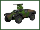 The CRAB, candidate for the VBAE Scorpion (Véhicule Blindé d'aide à l'Engagement – Fire Support Armored Vehicle) program combines two technologies mastered by Panhard: cell survival and integration of remotely operated weapon system.