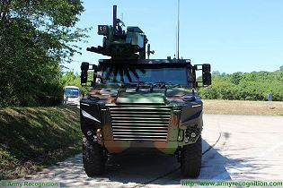 Griffon VBMR 6x6 Armoured Multi role vehicle France French army defense industry military equipment front side view 003