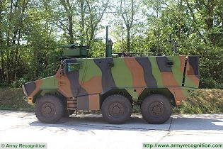 Griffon VBMR 6x6 Armoured Multi role vehicle France French army defense industry military equipment left side view 003