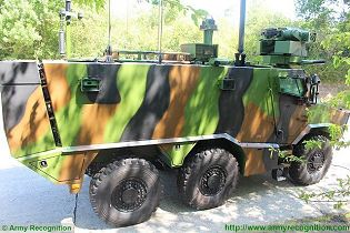 Griffon VBMR 6x6 Armoured Multi roles vehicle France French army defense industry military equipment right side view 003