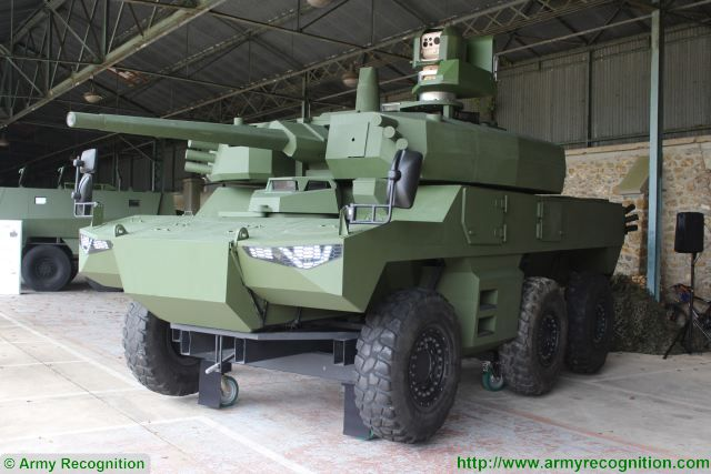 Jaguar EBRC 6x6 Reconnaissance and Combat Armoured Vehicle France French army defense industry 640 002