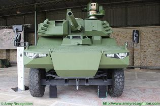 Jaguar EBRC 6x6 Reconnaissance and Combat Armoured Vehicle France French army defense industry front view 002
