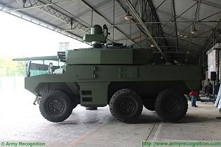 Jaguar EBRC 6x6 Reconnaissance and Combat Armoured Vehicle France French army defense industry left side view 002