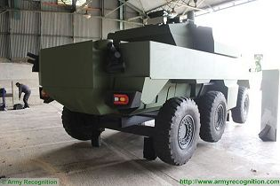 Jaguar EBRC 6x6 Reconnaissance and Combat Armoured Vehicle France French army defense industry rear view 002