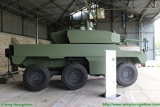 Jaguar EBRC 6x6 Reconnaissance and Combat Armoured Vehicle France French army defense industry right side view 002