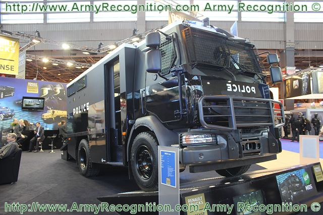 At Milipol 2011, the Worldwide Exhibition of Internal State Security, the French Company Renault Truck Defense presents a new security and public order truck, the MIDS - Midlum Security and Public Order Vehicle