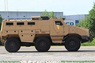TITUS Tactical Infantry Transport and utility System 6x6 armoured vehicle Nexter France French defense industry right side view 002
