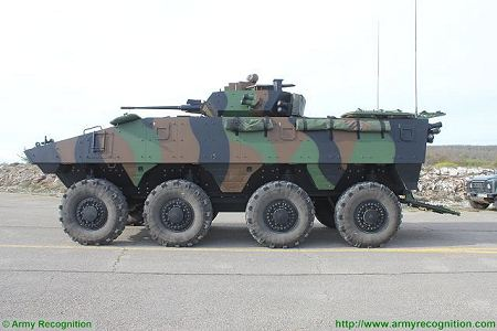 VBCI 8x8 wheeled armoured infantry fighting vehicle Nexter Systems France French army defense industry left side view 003