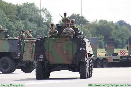 VBCI 8x8 wheeled armoured infantry fighting vehicle Nexter Systems France French army defense industry rear view 003