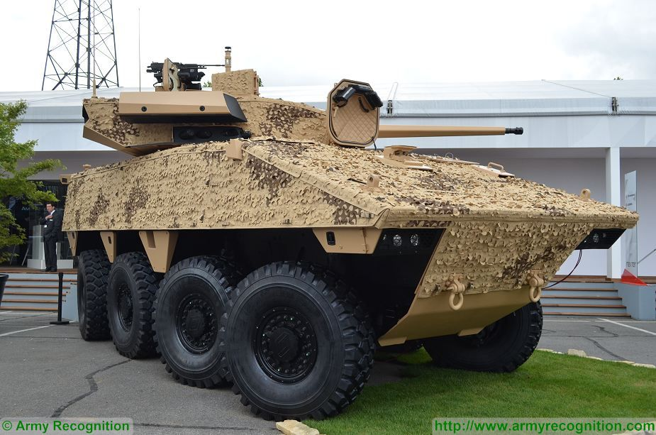 VBCI 2 8x8 wheeled armoured infantry fighting vehicle CTA40 Nexter Systems France French defense industry 925 001