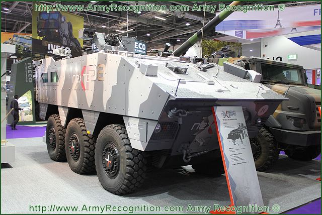 At the international Defence & Security equipment Exhibition DSEI 2011, the French Defence Company Nexter presents for the first time to the public its technology demonstrator, the XP2. A new concept of Armoured Personnel Carrier (APC).