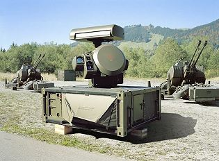 Skyshield Oerlikon ground-based short range air defense system cannon missile technical data sheet specifications information description intelligence pictures photos images identification Germany German army Rheinmetall defense industry army military technology