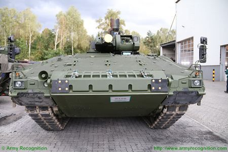 Puma KMW armoured infantry fighting vehicle Germany German Army front view 002