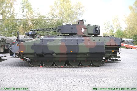 Puma KMW armoured infantry fighting vehicle Germany German Army left side view 002