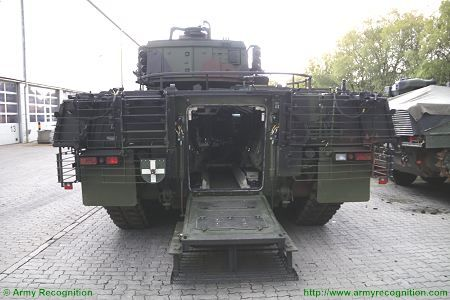 Puma KMW armoured infantry fighting vehicle Germany German Army rear view 002