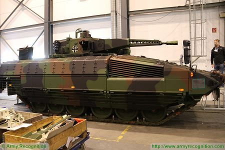 Puma KMW armoured infantry fighting vehicle Germany German Army right side view 002