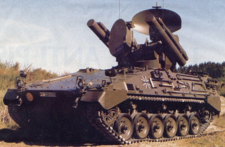 Anti aircraft tracked armoured vehicle german army germany 003