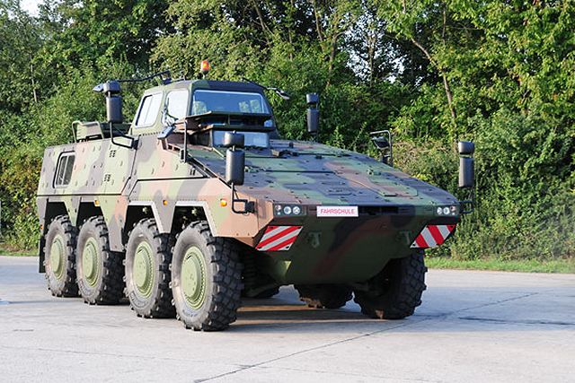 All Four Versions Of Boxer Wheeled Armoured Vehicle Are