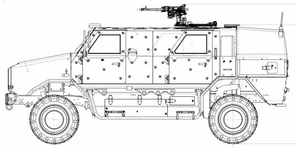 Dingo 2 wheeled armoured vehicle personnel carrier data sheet specifications information description