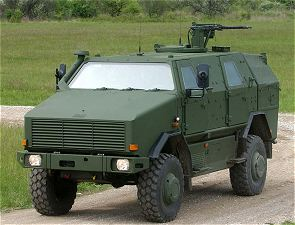 Dingo 2 wheeled armoured vehicle personnel carrier data sheet specifications information description intelligence pictures photos images identification Krauss-Maffei Wegmann Germany German army defense industry