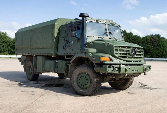 On 14 May 2012, the Federal Office of Defense Technology and Procurement (BWB) and Daimler AG concluded a contract on the delivery of a total of 110 protected transport vehicles, payload 5 tons, manufacturer's designation ZETROS.