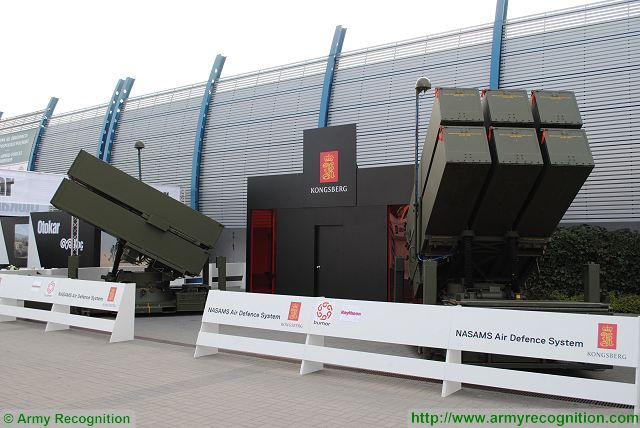 NASAMS Konsberg advanced surface-to-air defense missile system Norway Norwegian army defense industry 640 001