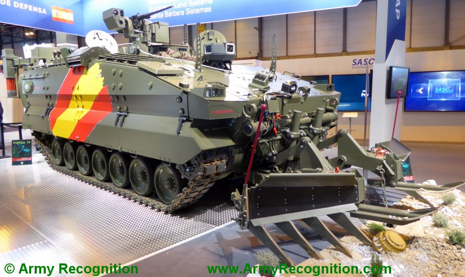 FEINDEF 2019 General Dynamics presents Spanish Pizarro Engineering Combat Vehicle