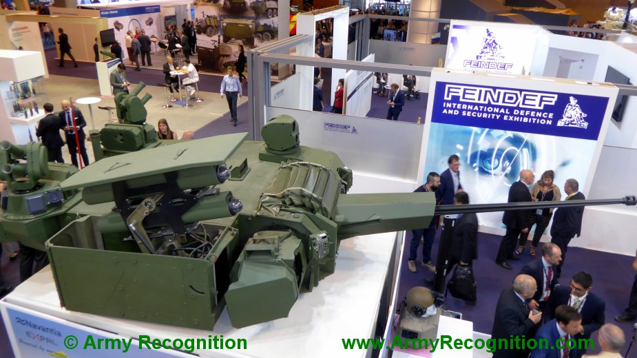 FEINDEF 2019 Navantia EXPAL and Elbit systems present Tizona 30mm turret for Spanish Army 8x8 vehicle