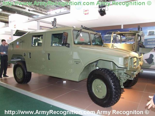 URO VAMTAC 4x4 light wheled tactical vehicle