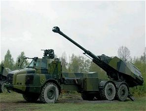 Archer FH77 BW L52 wheeled self-propelled howitzer 155 mm technical data sheet information specifications description pictures photos images identification armoured truck Volvo 6x6 AD30 BAE Systems Bofors