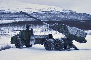 Archer FH77 BW L52 wheeled self-propelled howitzer BAE Systems Bofors Sweden Swedish left side view 002
