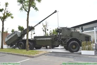 Archer FH77 BW L52 wheeled self-propelled howitzer BAE Systems Bofors Sweden Swedish right side view 002