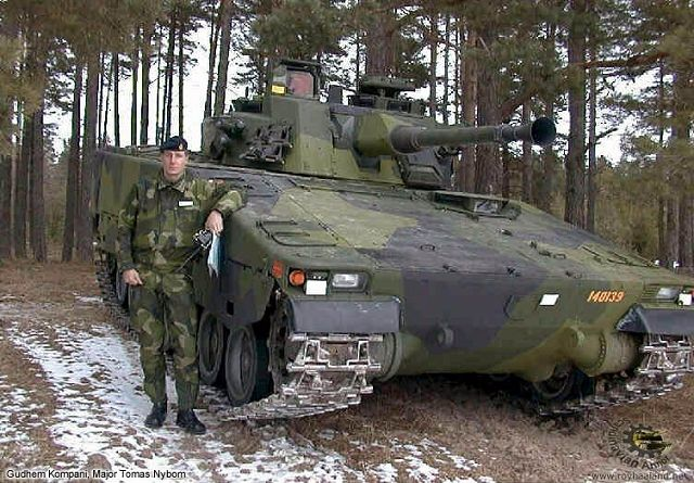 CV90 CV9040 armoured infantry combat vehicle technical data sheet information specifications description pictures photos images identification rocket launcher Sweden Swedish army BAE Systems Alvis Hägglunds defence industry military technology