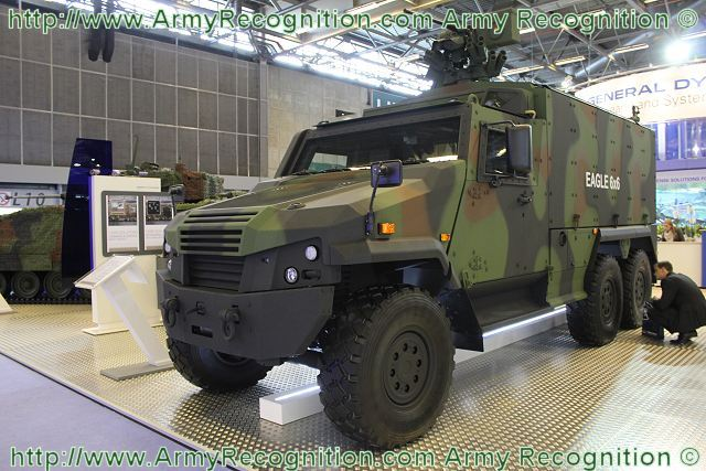 Eagle 6x6 light wheeled armored vehicle personnel carrier data