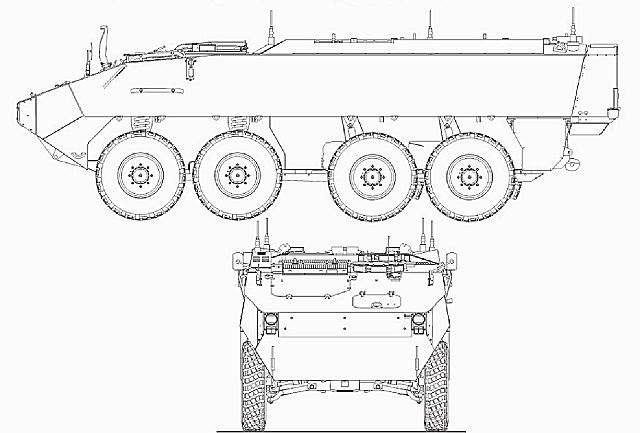 Piranha 3 Iii C Wheeled Armoured Vehicle Personnel Carrier