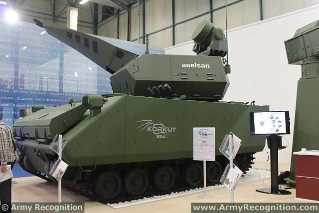 Turkish Army has signed a contract with the Company Aselsan of Turkey for the purchase of undisclosed number of new Korkut 35mm short-range air defense system after successful qualifications tests. This new air defense system was unveiled during IDEF 2013, a defense exhibition in Istanbul in May 2013.