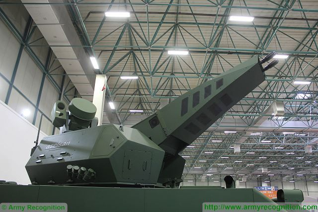 Korkut 35mm twin-cannon Gun System tracked armoured technical data sheet specifications pictures video description information intelligence identification images photos Aselsan Turkey Turkish army vehicle defence industry military technology