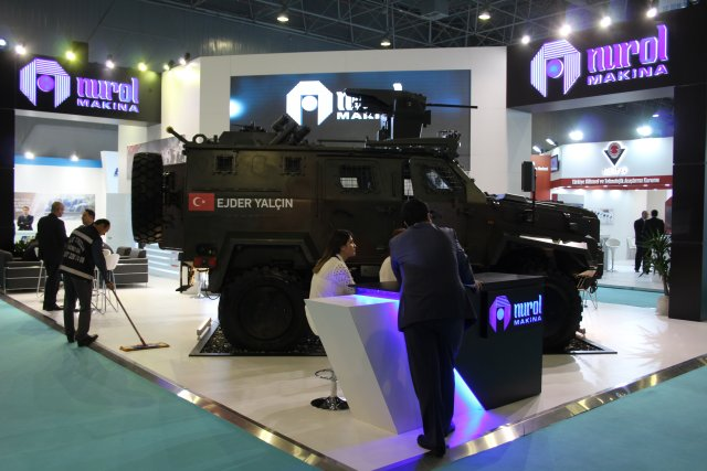 Nurol Makina is showcaing its Ejder Yalçin 4x4 at High Tech Port 2016 in Istanbul 003