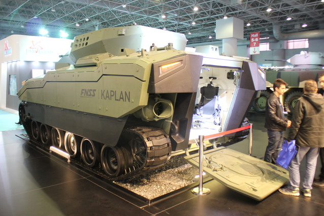 The FNSS Kaplan Armored Fighting Vehicle on display at High Tech Port 2016 640 002