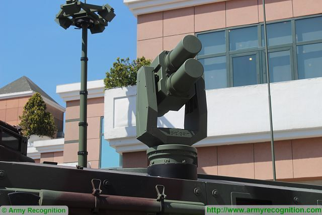 At IDEF 2015, Aselsan presents its active protection system AKKOR which provides protection against all types of laser guided missiles and thermal visioning systems by means of effectively generated multispectral smoke screen.