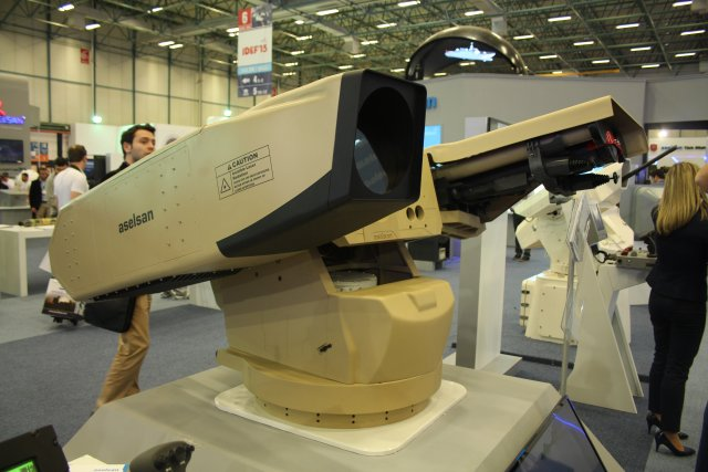 Aselsan unveils Igla-Missile Launching System fitted with Weapon laser System 640 001