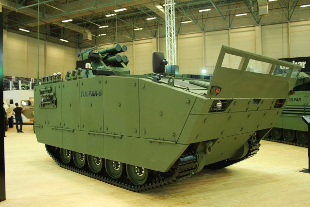 New tracked armoured vehicle TULPAR-S presented at IDEF for the first time by Otokar 640 001