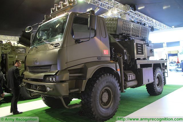 Roketsan T-107-122 MBRL highly mobile surface to surface rocket system at IDEF 2015 640 001