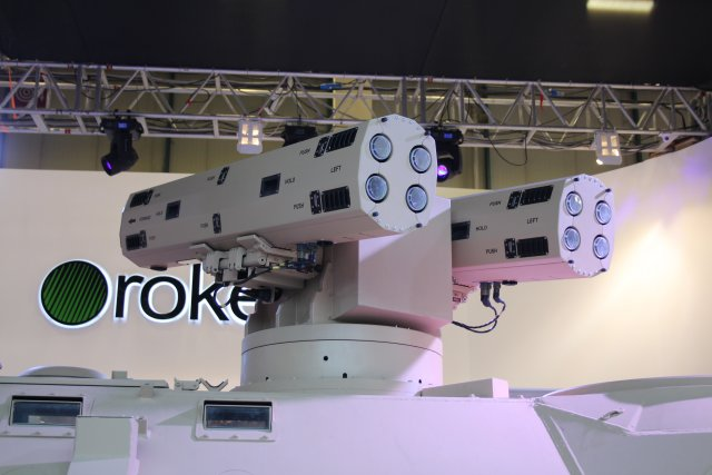 Turkish company Roketsan presents its Pedestal Mounted CIRIT for weapon of the same name 640 002